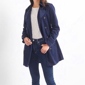 Women's GAP Navy Blue Trench Coat